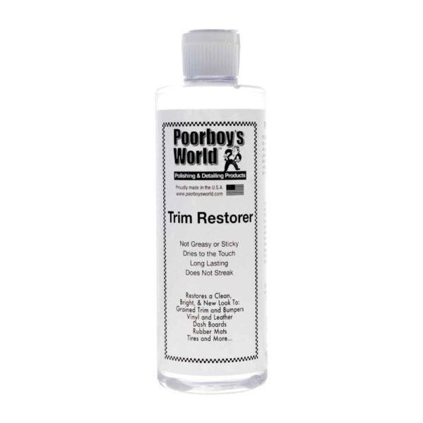 Kumin- ja muovin ehostusaine – Poorboy's World Trim Restorer 473ml