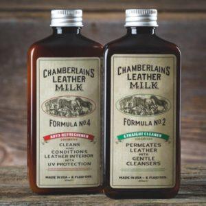 Chamberlain's Leather Clean + Refresh – Puhdistus- ja hoitosetti nahkaisille auton istuimille