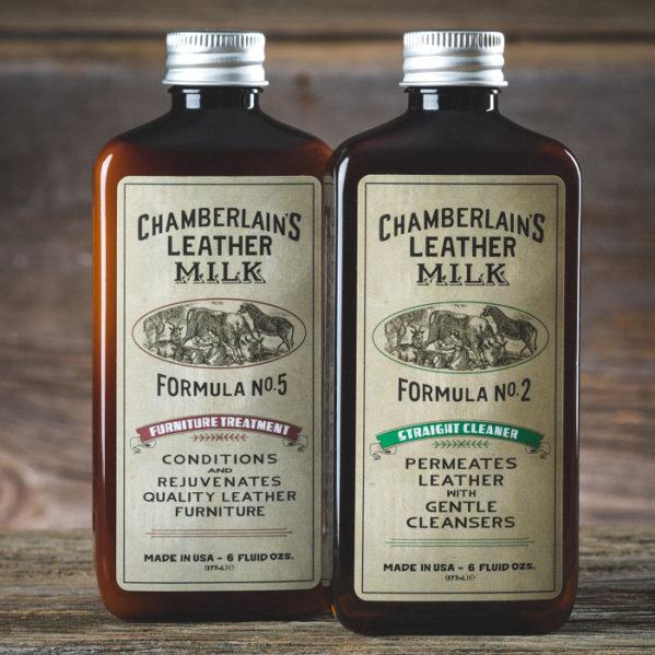 Chamberlain's Leather Clean + Cond – Puhdistus- ja hoitosetti nahkaisille huonekaluille