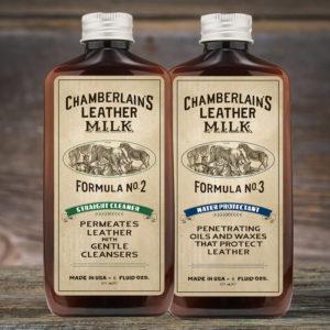Chamberlain's Leather Clean + Prot – Puhdistus- ja kyllästyssetti nahalle