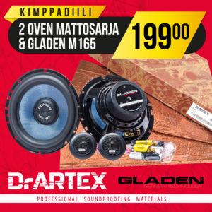 DrArtex kimppadiili – 2 oven vaimennussarja + GLADEN M165 erillissarja