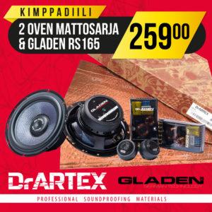 DrArtex kimppadiili – 2 oven vaimennussarja + GLADEN RS165 erillissarja
