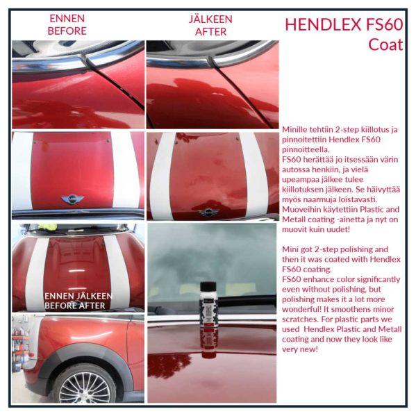 Keraaminen pinnoite – Hendlex Ceramic Coat FS60 40ml setti